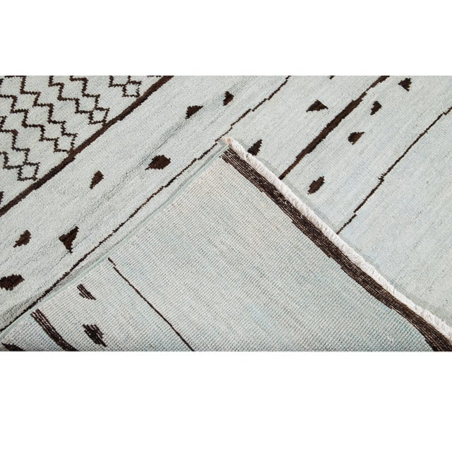 Contemporary 21st Century Contemporary 12'x19' Moroccan Wool Rug For Sale - Image 3 of 13
