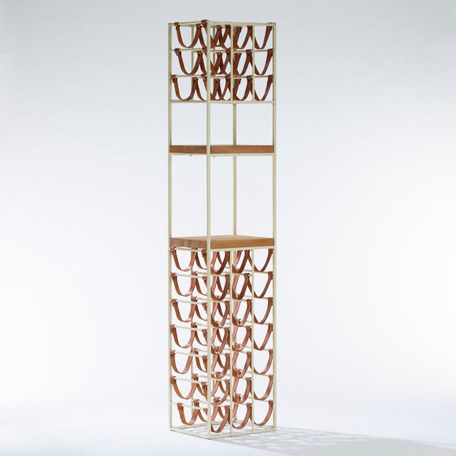 Metal 1950s Vintage Arthur Umanoff for Shaver Howard and Raymor Wine Rack For Sale - Image 7 of 7