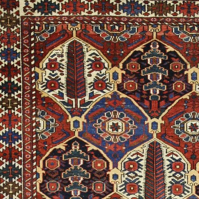 Antique Persian Bakhtiari Rug with Four Seasons Garden Design For Sale - Image 5 of 8