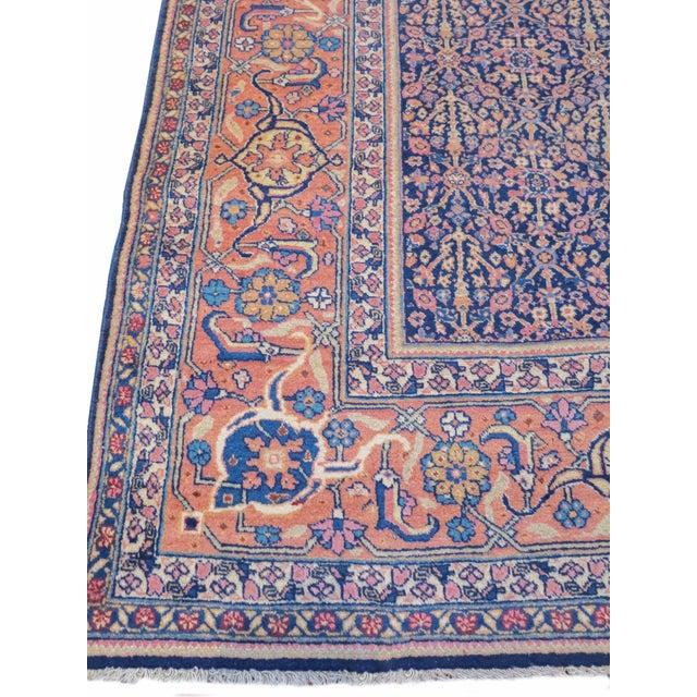 Tabriz Persian Rug - 7′4″ × 11′5″ For Sale - Image 4 of 6