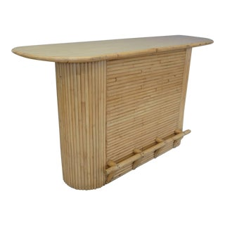 Paul Frankl Style Rattan Bar For Sale