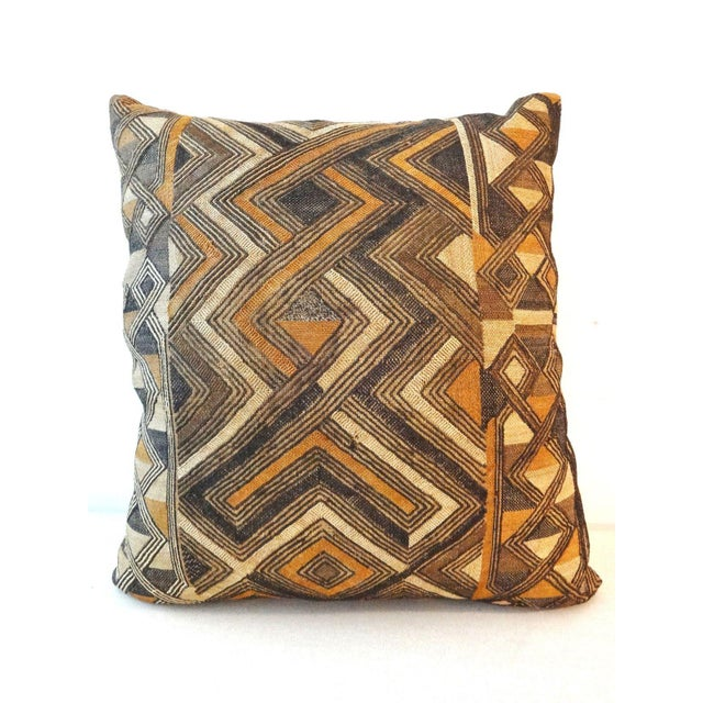African Embroidered Kuba Textile Pillow - Image 4 of 7