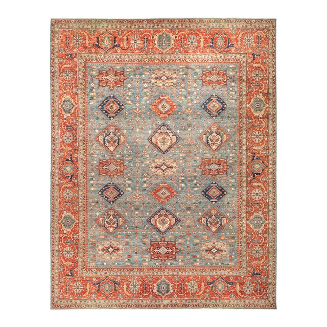 "Serapi Hand Knotted Area Rug - 11' 10"" X 15' 3"" - Image 1 of 4"