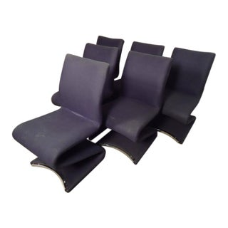 "Mid Century ""S"" Chairs by Verner Panton- Set of 6 For Sale"