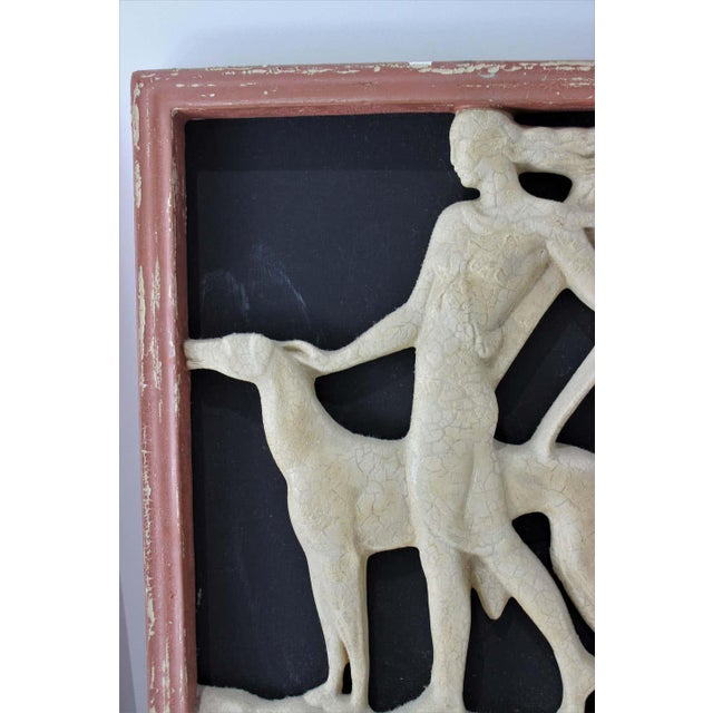 Cream Art Deco 1920s Wall Plaques - a Set of 2 For Sale - Image 8 of 13