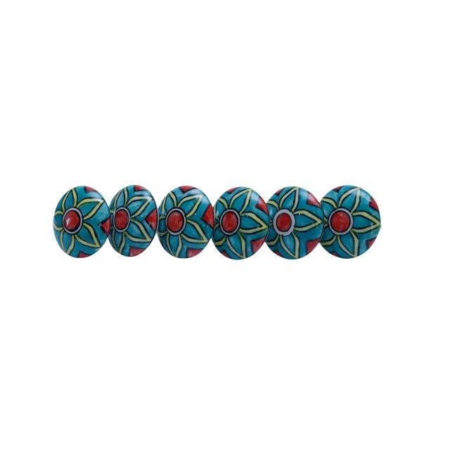 Ceramic Knob Handles - Set of 6 For Sale