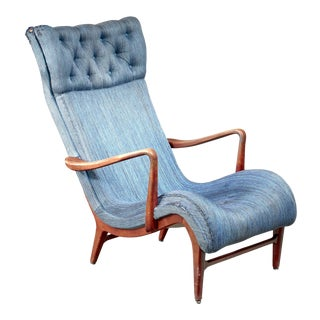 Carl Cederholm Easy Chair, Sweden, 1940s For Sale
