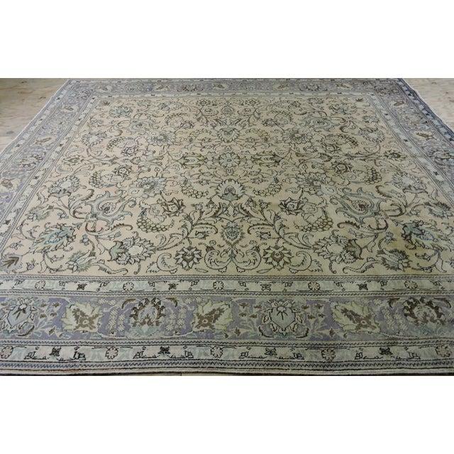 Antique Persian Handmade Area Rug - 9′5″ × 10′9″ - Image 3 of 11