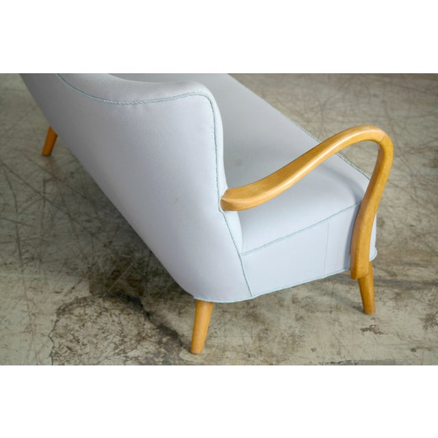 1940s Danish Sofa With Open Armrests by Alfred Christensen for Slagelse For Sale In New York - Image 6 of 9