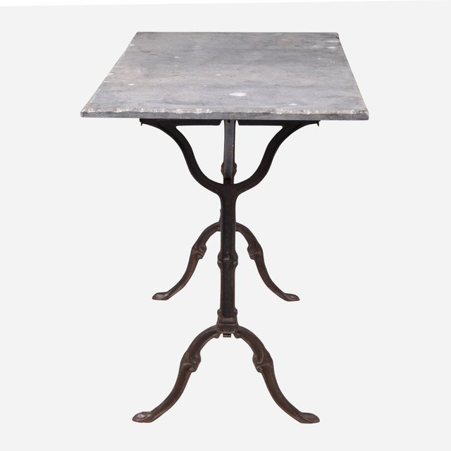 French French Blue Stone Bistro Rectangle Table For Sale - Image 3 of 5