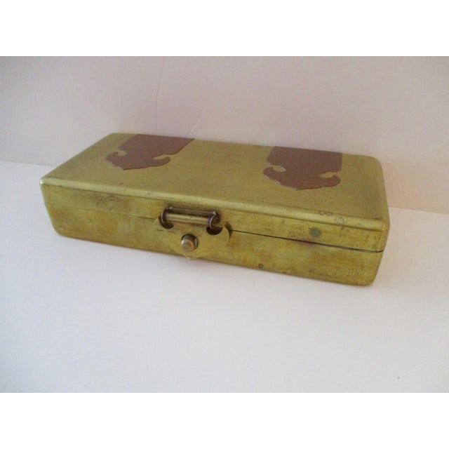 Neiman Marcus Hollywood Regency Brass & Copper Trinket Box - Image 2 of 10
