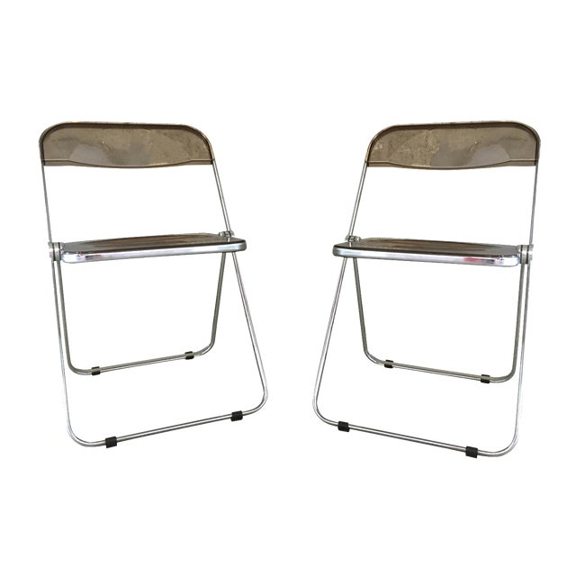 Plia Folding Chairs by Giancarlo Piretti - A Pair - Image 1 of 11