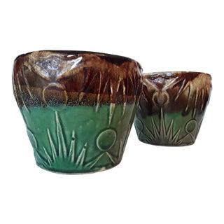 1940s Art Deco Art Pottery Planters - A Pair