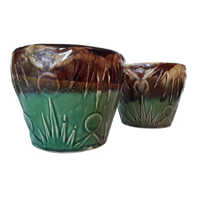 1940s Art Deco Art Pottery Planters - A Pair - Image 1 of 5