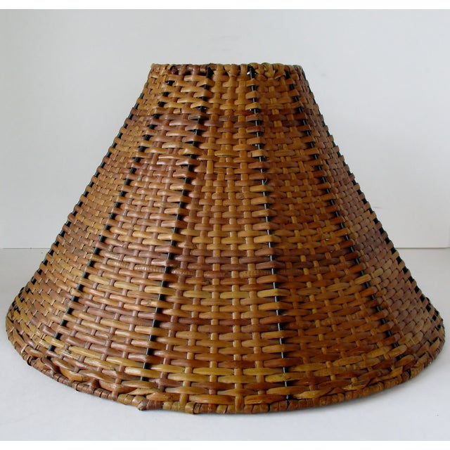 Boho Chic Wicker Uno Lamp Shade For Sale - Image 3 of 8