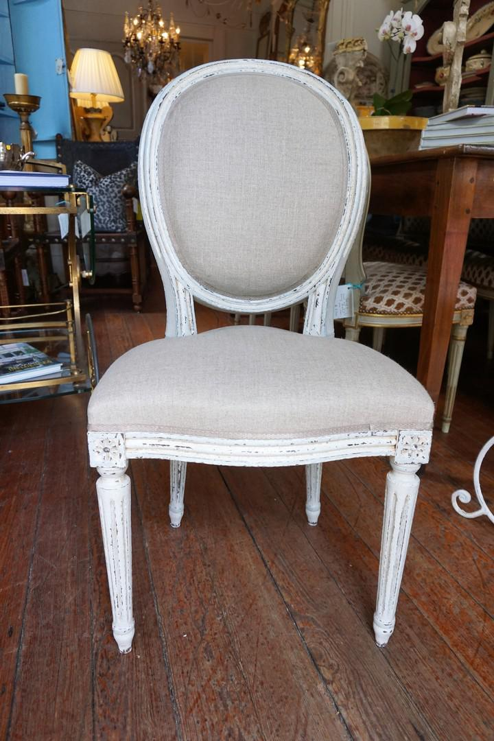 Set Of Eight Louis XVI Style Dining Chairs   Image 2 Of 11