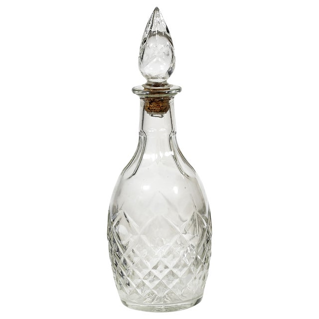 1960s Diamond Patterned Glass Decanter - Image 1 of 3