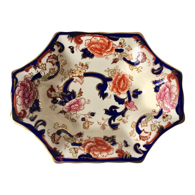 "English Mason's Gaudy Welsh Ironstone Dish-""Mandalay"" For Sale"