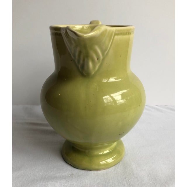 Mid 20th Century Green Pottery Collection - Set of 3 For Sale - Image 4 of 12