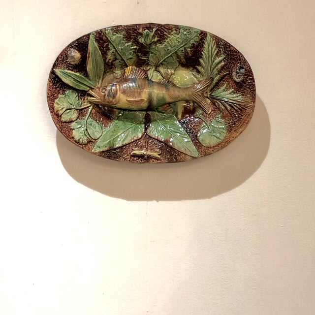 Palissy Plate, France Circa 1880 For Sale In San Francisco - Image 6 of 6