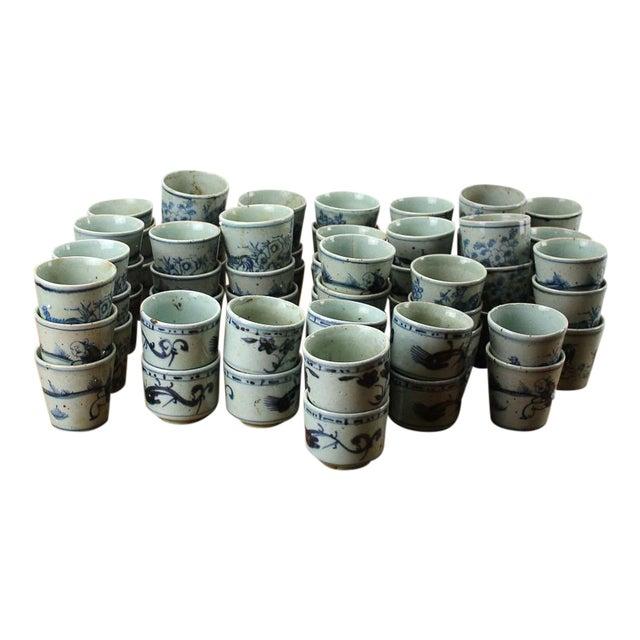 Sarreid Ltd. Vintage Blue & White Cups - 64 Pieces - Image 1 of 3