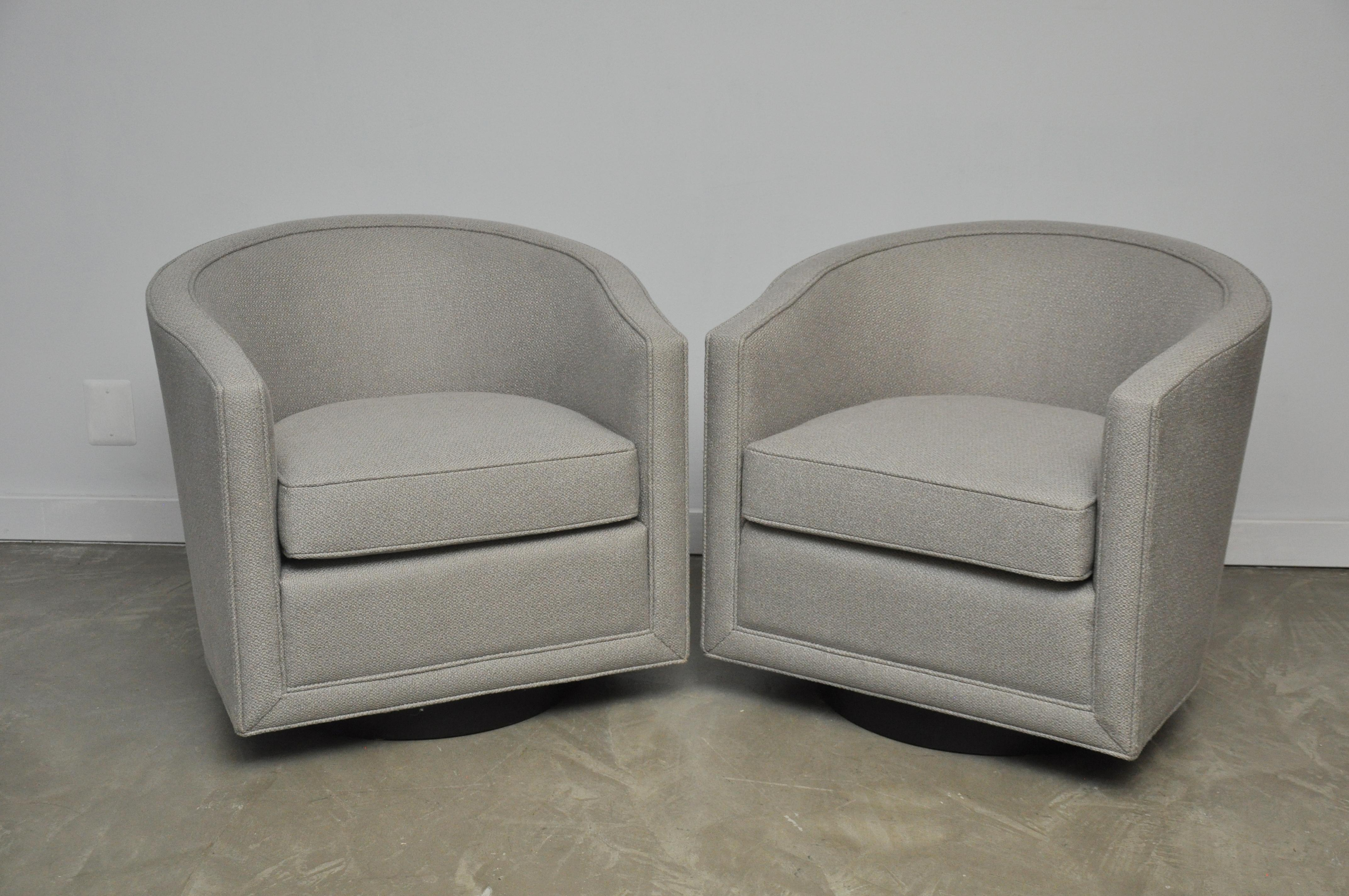Dunbar Swivel Lounge Chairs   Image 4 Of 8