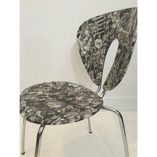 Bodybuilder Decoupage Modernist Chair - Image 4 of 11