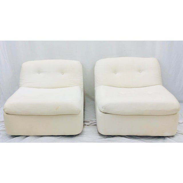 Late 20th Century Vintage Contemporary Modern Slipper Chairs For Sale - Image 5 of 13
