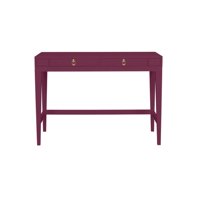 Traditional Casa Cosima Living Issa Counter Height Desk - Grape Juice For Sale - Image 3 of 3