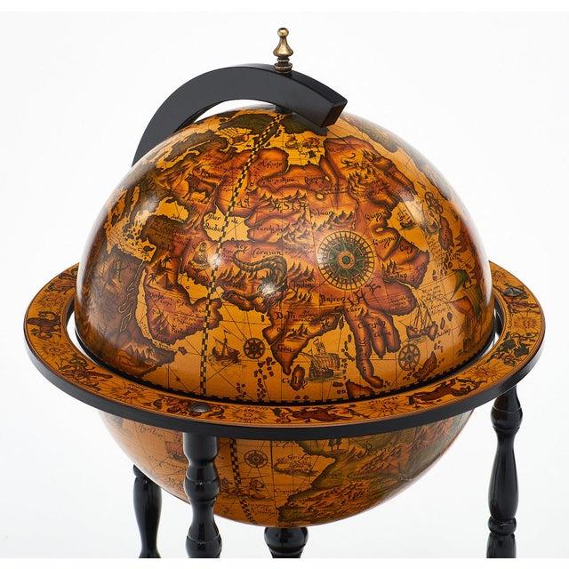 Italian Vintage Globe Bar Cart For Sale In Austin - Image 6 of 10