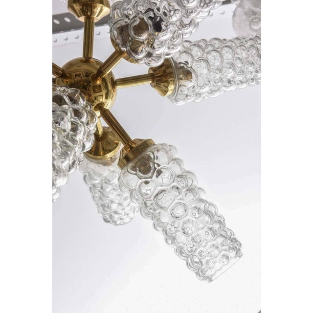 """Metal """"Sputnik"""" Chandelier With Bubble Glass and Brass 1960s For Sale - Image 7 of 11"""