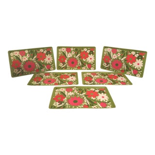 Flower Power Luncheon Trays - Set of 6 For Sale