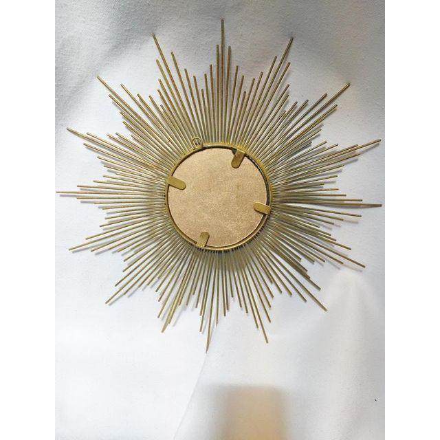 Art Deco Style Gold Starburst Mirror - Image 6 of 7