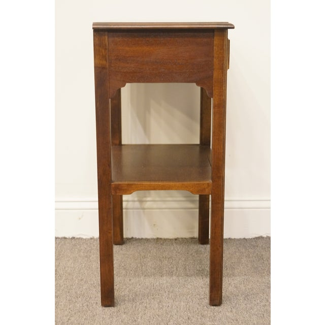"""20th Century Traditional Sherrill Furniture Banded Mahogany 18"""" Nightstand For Sale - Image 12 of 13"""