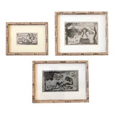 Image of Gallery Wall Collection 3 Original Vintage Paul Gaugin Wood Block Prints For Sale
