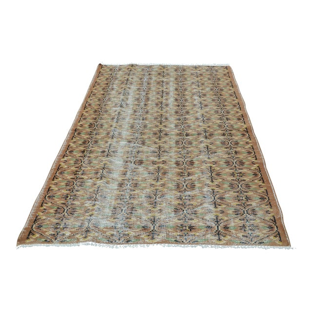 Turkish Brown Rug - 4′11″ × 7′8″ For Sale
