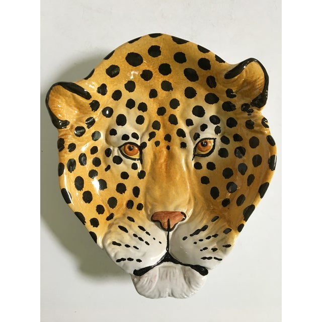 Italian Mid-Century Hollywood Regency Handcrafted Pottery Spotted Leopard Dish/Catchall For Sale - Image 12 of 13