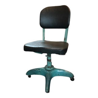 Mid-Century Swivel Steel Chair