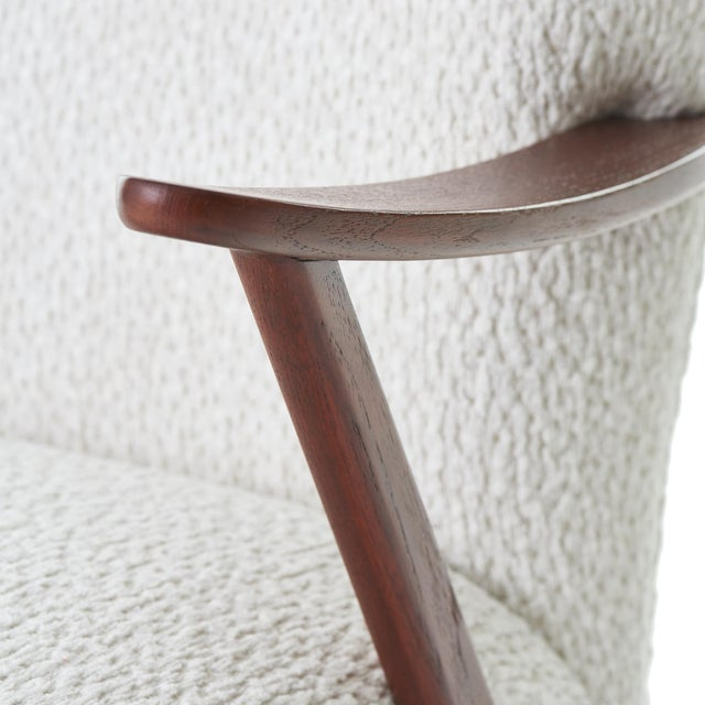 1950s 1950s Dux Walnut High Back Lounge Chair For Sale - Image 5 of 10