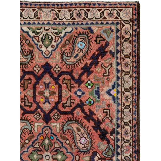 "Islamic Vintage Persian Hamadan Rug – Size: 2' 4"" X 4' 5"" For Sale - Image 3 of 4"
