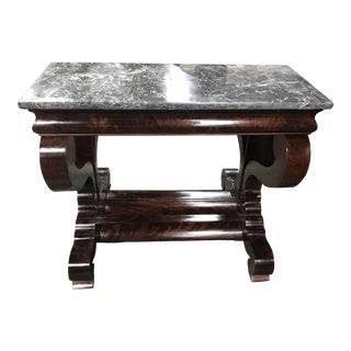 Early 19th Century American Classical Egyptian Marble Pier Table For Sale