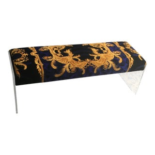 Gianni Versace Custom Made Lucite Bench For Sale