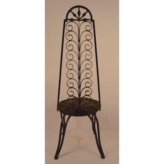 Stylish Wrought Iron Chair After Umanoff For Sale - Image 4 of 6