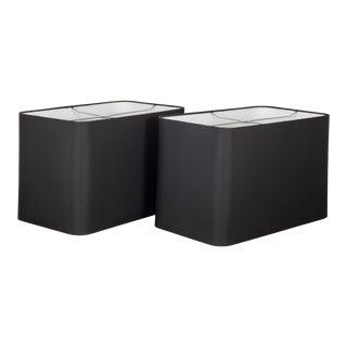 Arteriors Home Tanner Kenzie Line Black Microfiber Shades For Sale