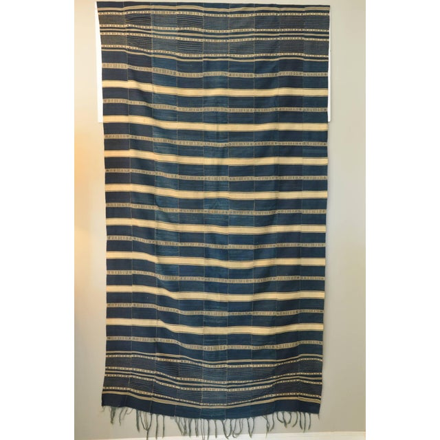 Cotton Museum Quality West African Indigo Textile For Sale - Image 7 of 7