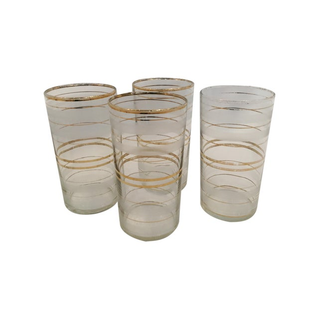 This Set of 4 Vintage Tumblers and Pitcher is perfect for your next small get together. Would look stunning on display....