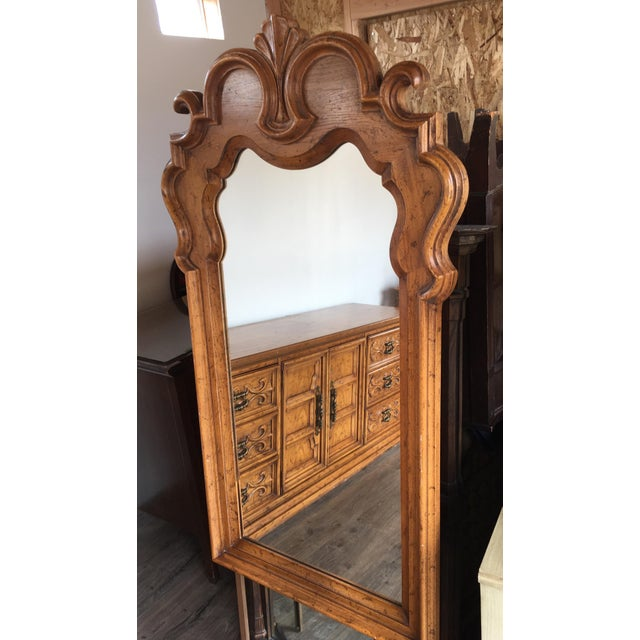 Mid 20th Century Velero by Drexel Dresser & Mirror For Sale - Image 5 of 11