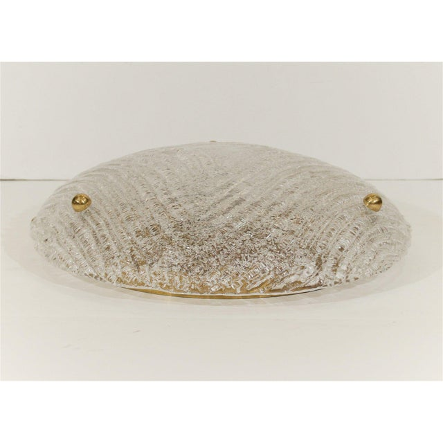 Metal Round Domed Flush Mount by Hillebrand For Sale - Image 7 of 8