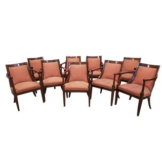 Set of 9 French Vintage Mid Century Dining Chairs in Great Condition Armchairs For Sale