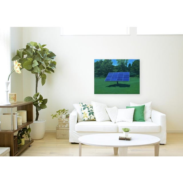 """2010s Contemporary Painting, """"Solar Panel in a Field"""" by Stephen Remick For Sale - Image 10 of 12"""